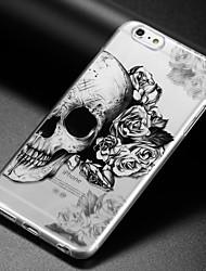 Недорогие -Кейс для Назначение Apple iPhone X iPhone 8 iPhone 6 iPhone 6 Plus IMD Ультратонкий Прозрачный С узором Кейс на заднюю панель Черепа