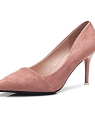 preiswerte -Damen Schuhe Vlies Frühling Herbst Pumps High Heels Stöckelabsatz Spitze Zehe für Normal Schwarz Grau Rosa