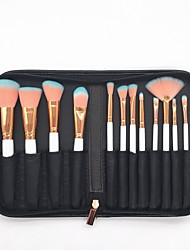 cheap -12 pcs Makeup Brush Set Blush Brush Eyeshadow Brush Lip Brush Eyeliner Brush Powder Brush Foundation Brush Nylon Eco-friendly Soft Travel
