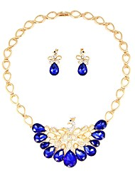 cheap -Women's Jewelry Set - Gold Plated Classic, Fashion Include Bridal Jewelry Sets Blue For Wedding / Office & Career