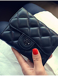 cheap -Women Bags PU Wallet Buttons for Casual All Season Blushing Pink Red Black Blue