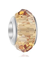 cheap -DIY Jewelry 1 pcs Beads Crystal Alloy Coffee Light Green Irregular Bead 0.5 cm DIY Necklace Bracelet