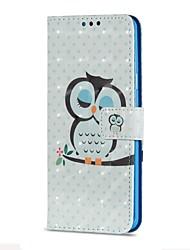 Недорогие -Кейс для Назначение SSamsung Galaxy S9 S9 Plus Бумажник для карт Кошелек со стендом Флип Магнитный С узором Сова Твердый для