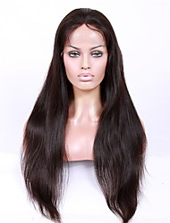 cheap -Virgin Human Hair Lace Front Wig / Glueless Lace Front Wig Brazilian Hair Straight With Baby Hair 130% / 150% / 180% Density African American Wig Women's Short / Long / Mid Length Human Hair Lace Wig
