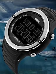 Недорогие -SKMEI Для пары Спортивные часы Цифровой 50 m Защита от влаги Календарь С двумя часовыми поясами PU Группа Цифровой Роскошь На каждый день Мода Черный / Бежевый / Цвет клевера -  / Хронометр