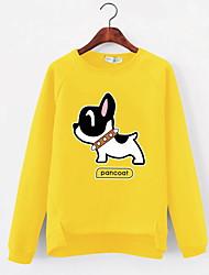 preiswerte -Damen Pullover Alltag Druck Rundhalsausschnitt Mikro-elastisch Polyester Langärmelige Frühling
