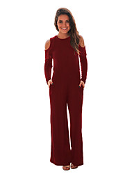 cheap -Women's Jumpsuit - Solid High Waist
