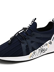 cheap -Men's Shoes PU Cowhide Tulle Spring Fall Comfort Light Soles Athletic Shoes Running Shoes for Athletic Outdoor Blue Gray Black