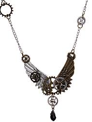 abordables -Femme Steampunk Colliers Déclaration  -  Steampunk Européen Equipement Ailes / Plume Bronze antique Colliers Tendance Pour Quotidien Fête