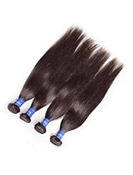Недорогие -хорошее качество бразильские виргинские remy прямые человеческие волосы переплетены пучки 4pieces 400g lot естественный черный цвет