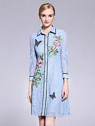 preiswerte -Damen Spitze Kleid - Spitze Blume, Blumen Peter Pan-Kragen