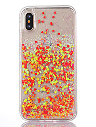 preiswerte -Hülle Für Apple iPhone X iPhone 8 Note 8 Mit Flüssigkeit befüllt Transparent Rückseite Durchsichtig Glänzender Schein Hart PC für iPhone