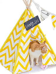 cheap -Cat Bed Pet Baskets Stripe Mini Tent For Pets