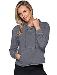 preiswerte -Damen Laufshirt Langarm Atmungsaktivität Sweatshirt / Kapuzenshirt für Laufen Polyester, Nylon Dunkelgrau S / M / L