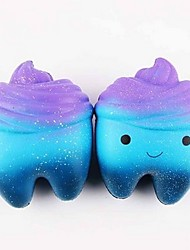 cheap -LT.Squishies Squeeze Toy / Sensory Toy Teeth Cake Cupcake Office Desk Toys Stress and Anxiety Relief Decompression Toys Novelty Gift All