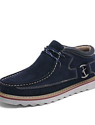 Недорогие -Муж. обувь Замша Все сезоны Удобная обувь Туфли на шнуровке для Повседневные Офис и карьера Коричневый Синий