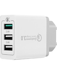 abordables -Chargeur Portable Chargeur USB Prise UE QC 3.0 / Charge Rapide / Multiport 3 A