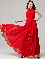 cheap -Jumpsuit Halter Neck Floor Length Chiffon Formal Evening Dress with Pleats by TS Couture®