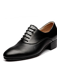"""cheap -Men's Modern Real Leather Cowhide Oxford Outdoor Chunky Heel Black 1"""" - 1 3/4"""" Customizable"""
