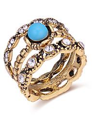 baratos -Mulheres Anéis para Falanges - Zircão, Acrílico Vintage, Europeu, Fashion 7 Bronze Para Diário