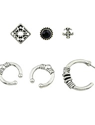 cheap -Women's 6pcs Stud Earrings / Clip Earrings - Basic / Rock Silver Circle Earrings For Daily / Date