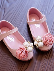 Pink flower girl shoes lightinthebox girls shoes synthetic microfiber pu spring fall comfort flower girl shoes flats for beige pink mightylinksfo
