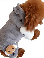 preiswerte -Hund Kapuzenshirts Hundekleidung One Piece nette Art Solide Grau Kostüm Für Haustiere