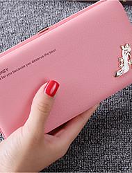 abordables -Bolsos PU Billeteras Detalles de Cristal para Casual Negro / Rosa
