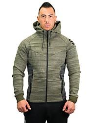 preiswerte -Herrn Laufjacke Langarm Atmungsaktivität Sweatshirt für Übung & Fitness Laufen Polyester Schwarz Rot Grün Grau M L XL XXL XXXL