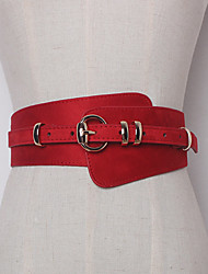 cheap -Women's Leather Waist Belt,Light Brown Beige Red Black Brown Casual