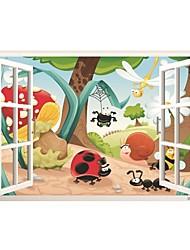 voordelige -Dieren Cartoon Muurstickers Vliegtuig Muurstickers Decoratieve Muurstickers, Vinyl Huisdecoratie Muursticker Raam Wand