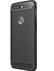 abordables -ASLING Funda Para OnePlus OnePlus 5T Congelada Funda Trasera Un Color Suave Fibra de carbon para OnePlus 5T