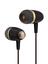 cheap -PHB EW002 In Ear Wired Headphones Dynamic Plastic Pro Audio Earphone with Volume Control / with Microphone Headset