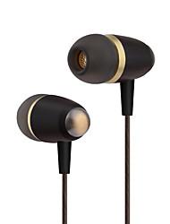 abordables -PHB EW002 Dans l'oreille Câblé Ecouteurs Dynamique Plastique Pro Audio Écouteur Avec contrôle du volume / Avec Microphone Casque