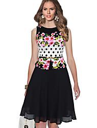 cheap -Women's Holiday Basic A Line Dress - Polka Dot