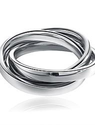 Недорогие -Муж. Жен. Классические кольца Нержавеющая сталь Крутящийся твист Бижутерия Новый год