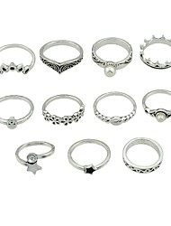 cheap -Women's Imitation Pearl Alloy Star Knuckle Ring - Fashion / Rock Silver Ring For Going out / Street
