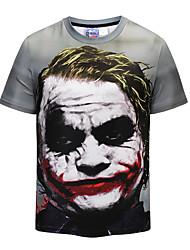 baratos -Homens Camiseta Punk & Góticas Moda de Rua Estampado Decote Redondo