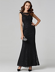 cheap -Mermaid / Trumpet Jewel Neck Beaded Lace Formal Evening Dress with Beading Sequin Appliques by TS Couture®