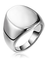 preiswerte -Herrn Edelstahl Bandring - Geometrische Form Hip-Hop / Rock Silber Ring Für Party / Neujahr