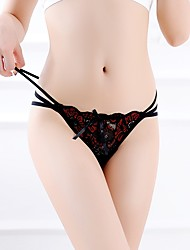cheap -Women's Stretchy Floral Jacquard G-strings & Thongs Panties Ultra Sexy Panties Thin, Acrylic One-piece Suit Blue Black Red Gray