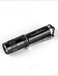cheap -Tank007 E13 LED Flashlights / Torch LED 120 lm 1 Mode with Battery Water Resistant / Water Proof Everyday Use Black