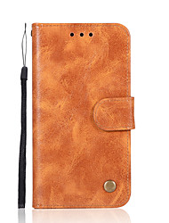cheap -Case For Nokia Nokia 8 Nokia 6 Card Holder Wallet with Stand Flip Full Body Cases Solid Color Hard PU Leather for Nokia 8 Nokia 6 Nokia 5
