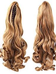 Недорогие -На клипсе Конские хвостики / Волосы Медведь-коготь / челюсть Натуральные волосы Волосы Наращивание волос Волнистый