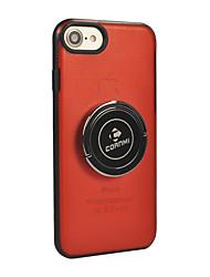 Недорогие -Кейс для Назначение Apple iPhone X iPhone 8 Кольца-держатели Сплошной цвет Твердый для