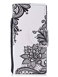 cheap -Case For Sony Sony Xperia XA Xperia XZ1 Compact Xperia XZ1 Card Holder Wallet with Stand Flip Magnetic Pattern Full Body Cases Flower Hard