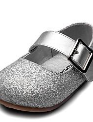 abordables -Fille Chaussures Similicuir Printemps Confort / Chaussures de Demoiselle d'Honneur Fille Ballerines Scotch Magique pour Or / Argent / Rose