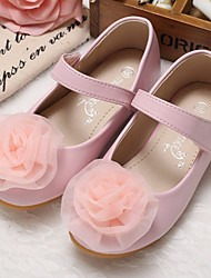 Pink flower girl shoes lightinthebox girls shoes synthetic microfiber pu spring summer comfort flower girl shoes flats for beige pink mightylinksfo