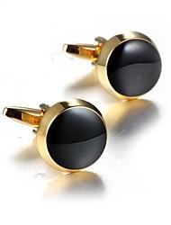 Недорогие -Круглый Золотой Запонки Акрил Медь Мода Нарядная одежда Повседневные Официальные Муж. Бижутерия