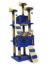 Недорогие -Кошка Дома Дерево Выцарапывание Животные Подкладки Однотонный Мода Прыжки Многослойный Мягкий Складной Подруга Gift Офис